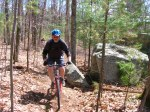 Brian A. riding new trail by Split Rock